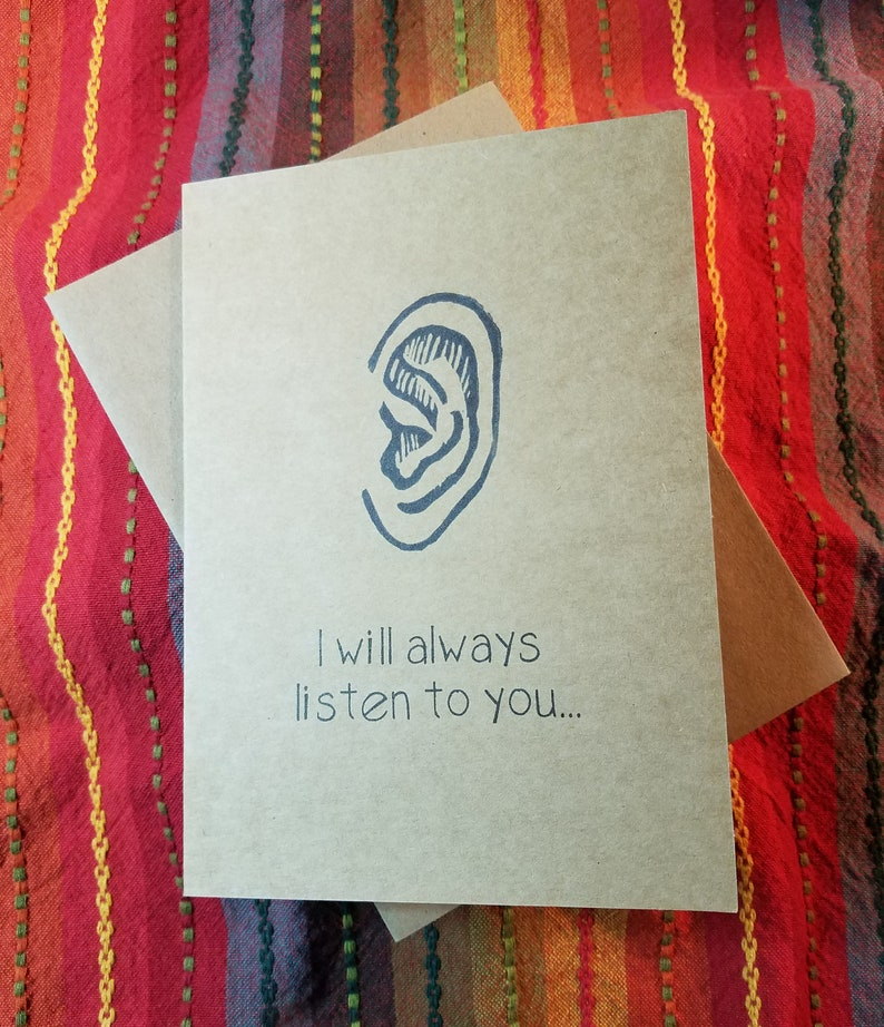 I Will Always Listen to You  5 x 7 Greeting Card Pack of 5 image 0