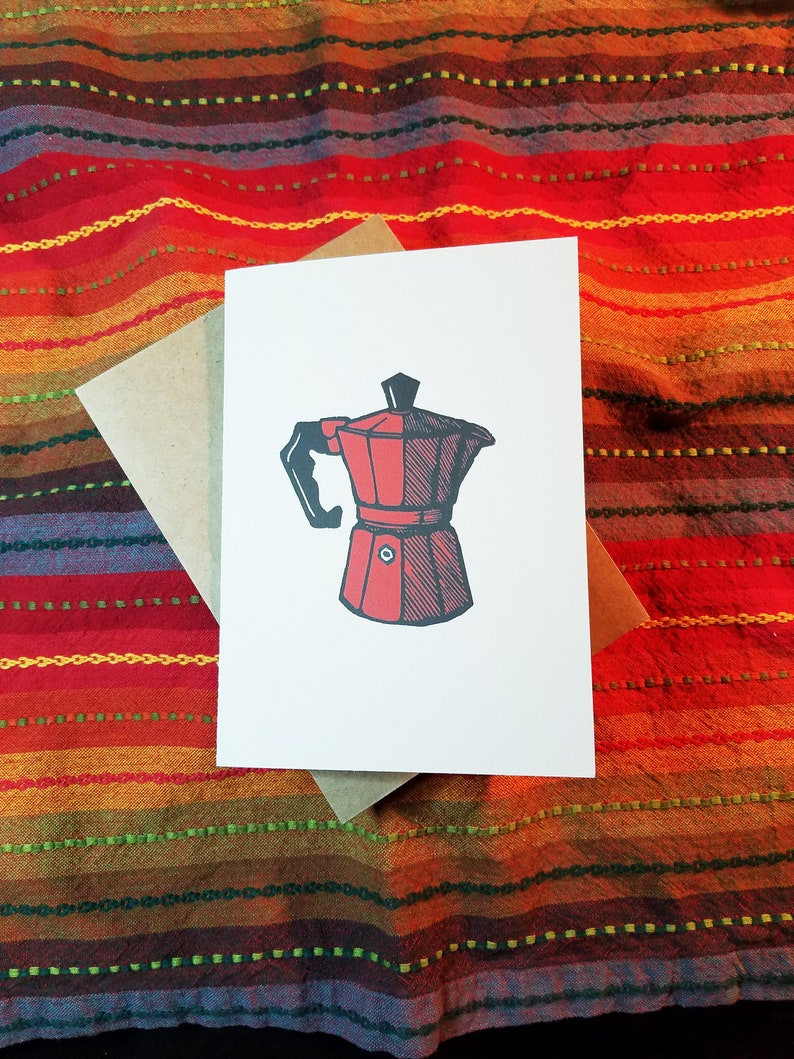 Moka Pot  5 x 7 Greeting Card  Pack of 5 with Envelopes-Free image 0