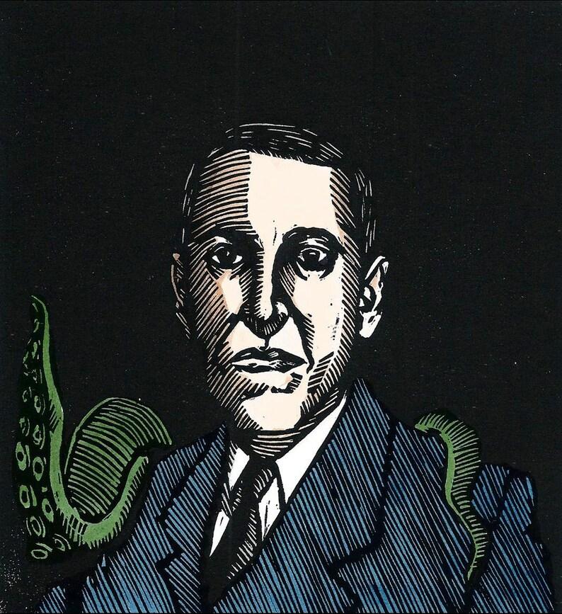 Lovecraft  Original Linocut Print image 0