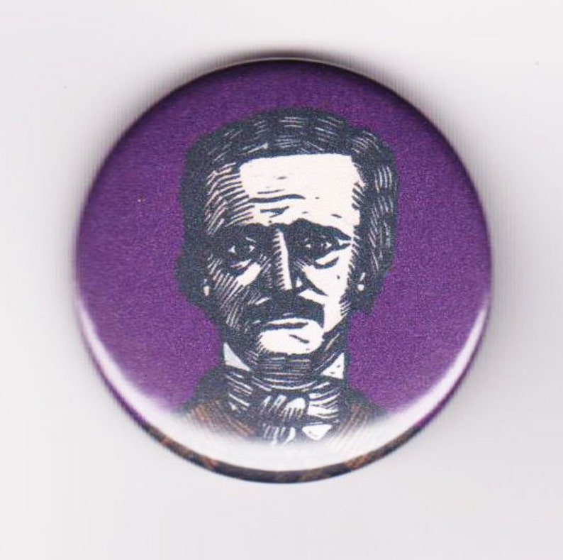 Poe 1.5 Inch Pinback Button image 0