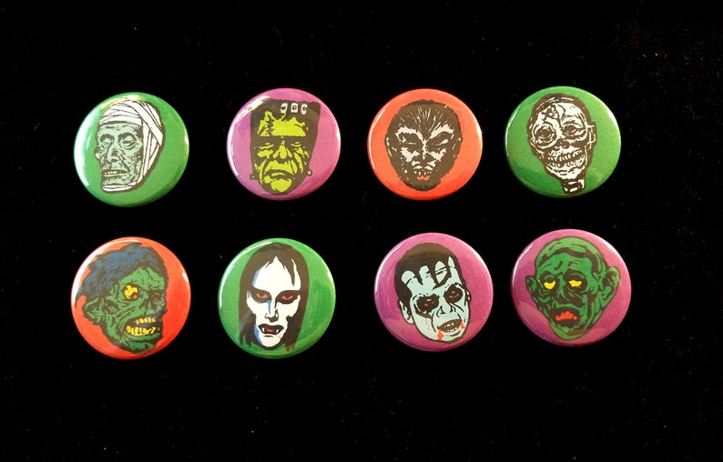 Monsters  Set of Eight Refrigerator Magnets  Free image 0