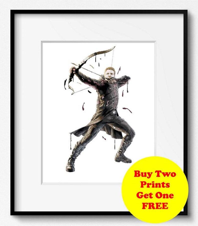 Hawkeye Watercolor Art Print (S011) Disney, Marvel, Avengers, Art Print,  Abstract, Poster, Wall Art, Kids Home Decor, Nursery,