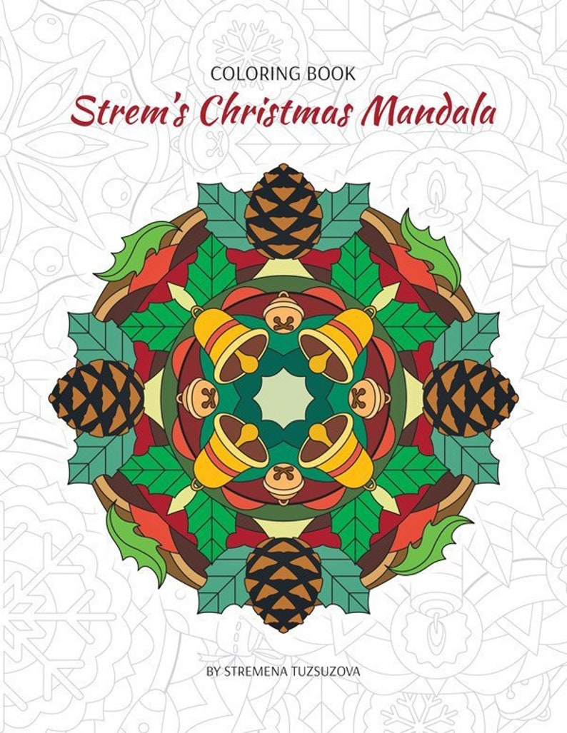 Printable Christmas Mandala Coloring Book Pdf