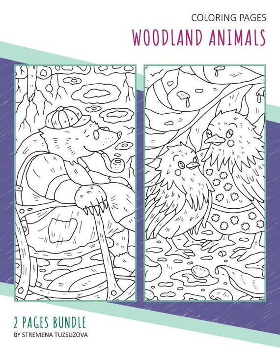Woodland Animals Coloring Pages Pdf