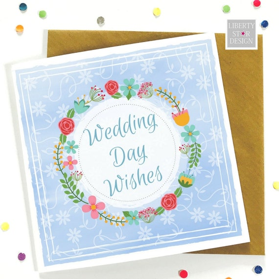 Wedding day wishes greeting card bride and groom boho description boho inspired wedding day wishes card m4hsunfo