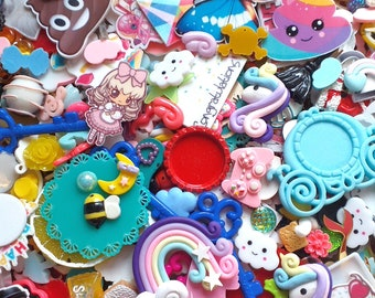 Decoden Cabs 10 Kawaii Words Baby Resin Cabochon #303a