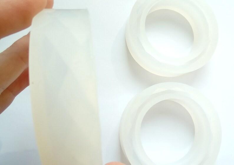 mould mold for flowers etc 13 x Bangle flexible mold for UV epoxy resin bracelet mold