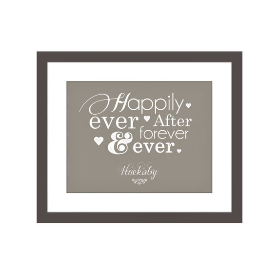 Personalized Couples Home Decor Print Happily Ever After Etsy