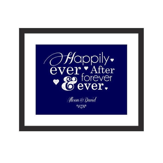 Happily Ever After Forever Ever Personalized Wedding Home Etsy