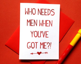 Lesbian Card, Funny Lesbian Card, Lesbian Couple Card, Lesbian Valentines Card, Lesbian Anniversary Card, LGBT Card, Wife Girlfriend Card
