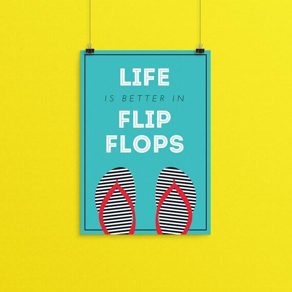 d6e3750dd0d0e Flip Flop Summer Print Flip Flop Print Summer Wall Art Flip