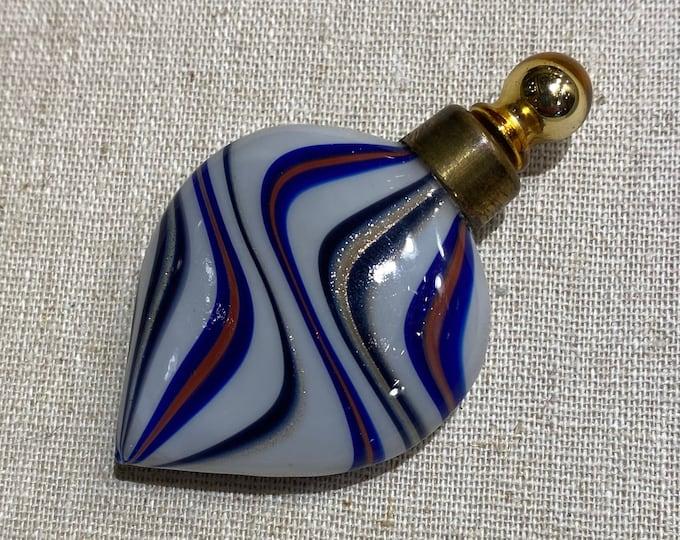 Antique Venetian Art Glass Scent Perfume Flask Bottle