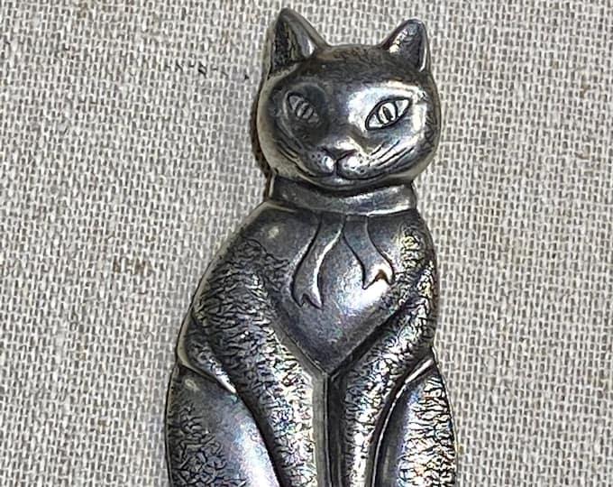 Danforth Pewter for SM 1994 Cat Brooch