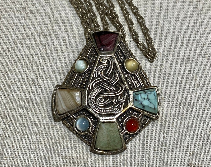 Signed Miracle Celtic Style Pendant on Chain