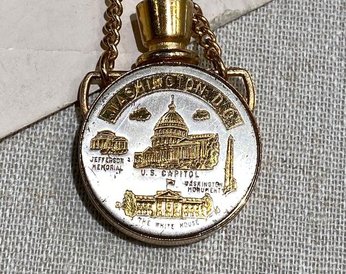 Vintage Washington, D. C. Souvenir Perfume Flask Bracelet