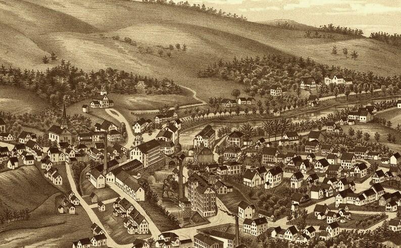 Tulsa Oklahoma 1918 Historic Panoramic Town Map 12x24