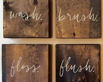 Bathroom Wall | Farmhouse Bathroom Wall Decor | Farmhouse Wall Decor |  Funny Bathroom Sign | Bathroom Wall Art | Bathroom Rules Sign |