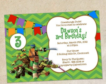 Teenage Mutant Ninja Turtles Invitation Template