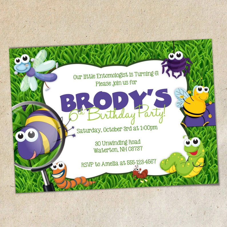 Bugs Party Invitation TEMPLATE