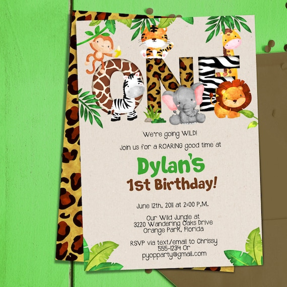 Birthday Invitation Template Safari 8