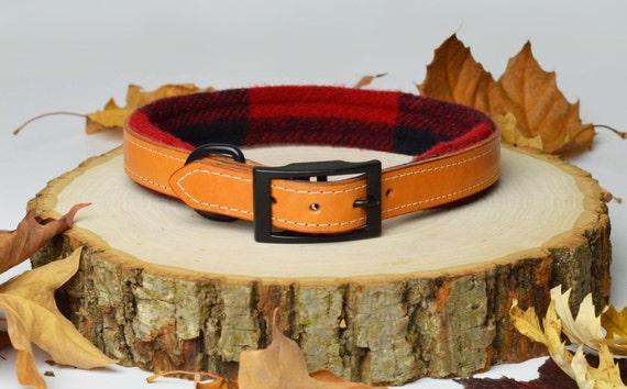 Ensemble noir et rouge Lumberjack Plaid Bridle laisse et collier