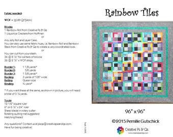 Kit: Rainbow Tiles quilt