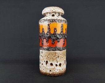 Germany-Vintage Pottery-Mid Century Rare Ceramic Vase-Scheurich 517-30-W
