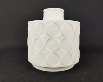 Vintage WINTERLING Porcelain Op Art Vase 1970s Schwarzenbach Bavaria
