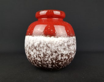 Vintage SCHEURICH KERAMIK Fat Lava CERAMOS 284-19 vase, West Geman Pottery 1970s
