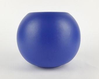 Vintage Blue ASA SELECTION (former Sgrafo Modern) Ball Vase West German Pottery 1980s
