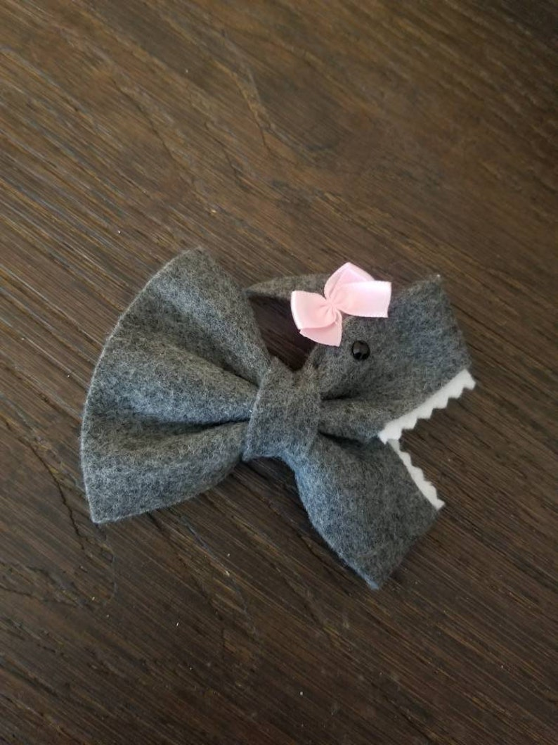 0b8ee022b Yellow baby shark hair bow hair clip in 2019 Products t