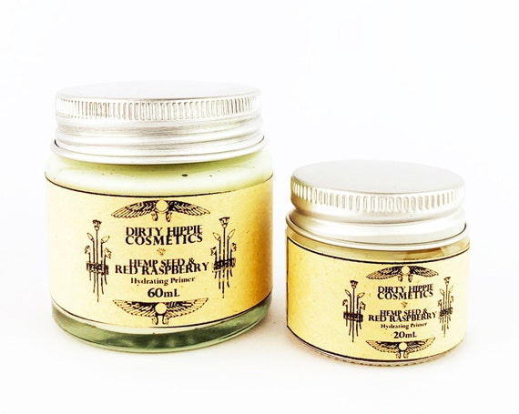 Organic Vegan Face Primer • Toxin FREE • ZERO WASTE • Hempseed, Red Raspberry, Aloe Vera, Palm Free Vegetable Glycerine • 20mL/60mL