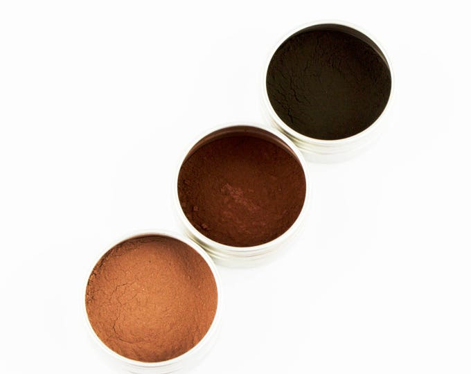 Mineral Brow Powders • Toxin FREE • ZERO WASTE • Arrowroot Powder, Iron Oxides, Detoxifying Clays • 5g