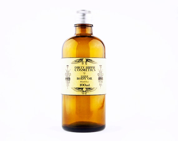 Organic Plant Based Body Oil • LUXURY FORMULA • Apricot Kernel, Hempseed, Argan and Avocado Oils • 100mL