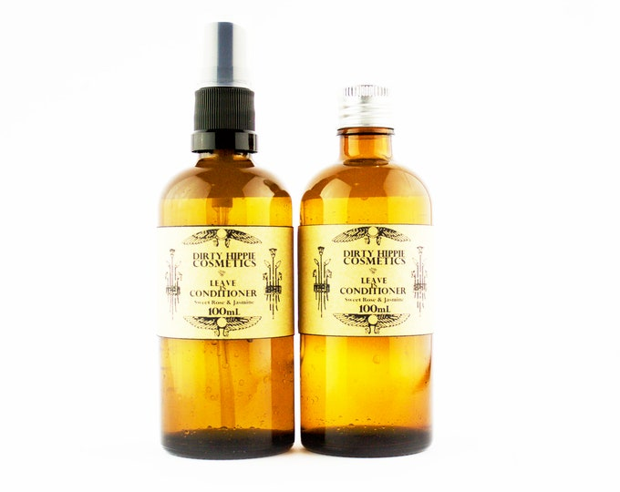 Nourishing Leave-in Conditioner • Rose Hydrosol, Aloe Vera, Argan Oil, Rose and Jasmine Pure Essential Oils • 100mL