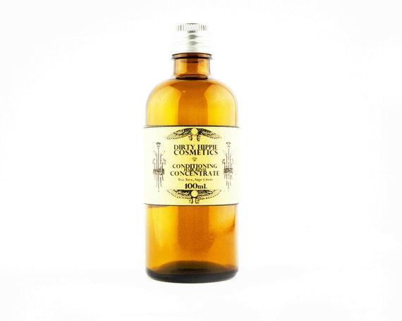 Conditioning Hair Rinse Concentrate Sage & Lemon • Raw Mother Apple Cider Vinegar, Argan Oil, Aloe Vera, Tea Tree Oil, Castor Oil • 100mL