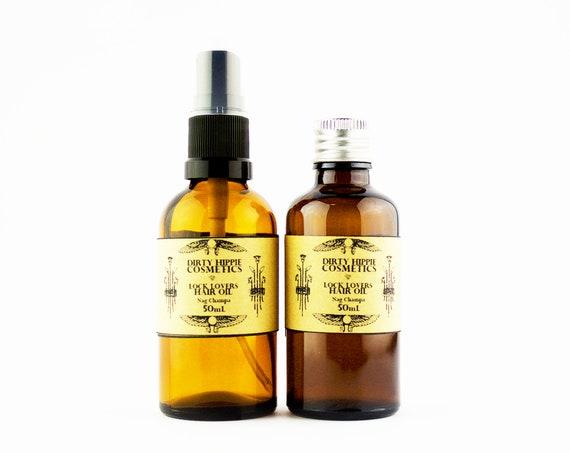Lock Lovers Hair Oil • DEEPLY NOURISHING • Argan, Avocado and Hempseed with Nag Champa Essential Oil • 50mL/100mL
