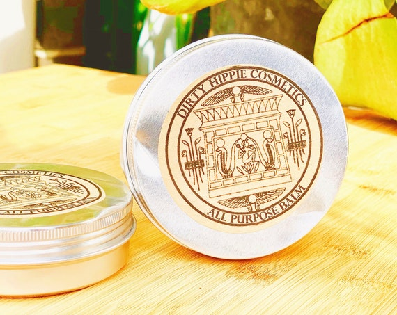All Purpose Balm • LIMITED EDITION • RECYCLED Tins • Body, Lips, Hair, Nails, Hands • Olive Oil, Shea Butter, Calendula, Vitamin E • 80g