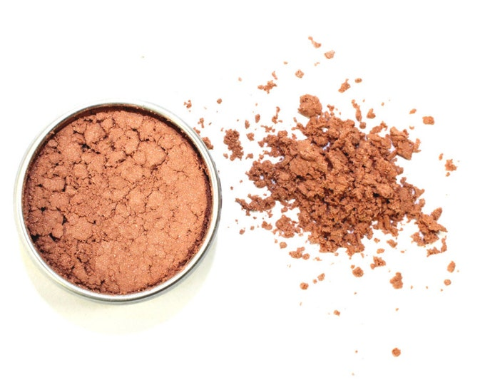 Bronzed-Rose Contouring • Loose Powder • ZERO WASTE • Argiletz Clay, Rose Petal Powder, Light Shimmering Bronze Mica • 8g
