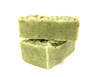 Luxury Facial Cleansing Bars • ZERO WASTE • Rejuvenating and Gentle • Avocado Oil and French Green Clay • 110g
