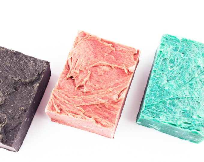 Luxury Body Soap Bars • ZERO WASTE • Tea Tree, Tamanu, Sea Salt, Rose, Avocado, Blueberry, Jojoba • 150g