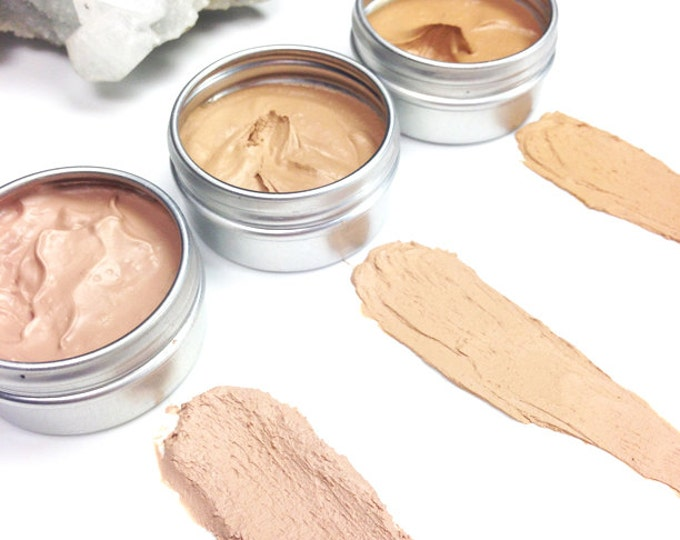 Mineral Cream Concealers • ZERO WASTE •Toxin Free, Titanium Dioxide Free, SPF 15 • Moonlit, Sunkissed and Goddess shades • 3g/15g