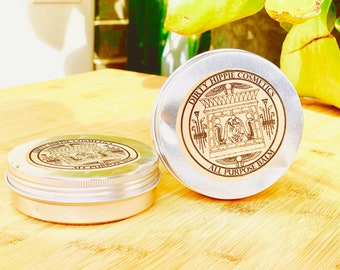 All Purpose Balm • RECYCLED TINS • Body, Lips, Hair, Nails, Hands • Olive Oil, Shea Butter, Calendula, Vitamin E