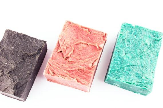 Luxury Body Soap Bars • ZERO WASTE • Tea Tree, Tamanu, Sea Salt, Rose, Avocado, Blueberry, Jojoba • 150g