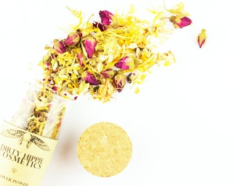 Flower Power Astringent Facial Steam • ZERO WASTE • Pore Clearing • Rose, Calendula, Rosemary, White Willow, Jasmine & Chamomile • 15g