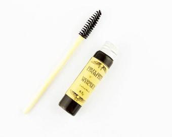 Lengthening Mineral Mascara • Toxin FREE • ZERO WASTE • Vitamin B5, Vitamin E, Seaweed, Colloidal Oats, Jojoba Oil, Castor Oil  • 8.5g