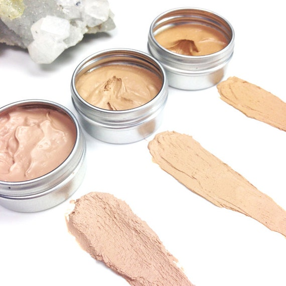 Mineral Cream Concealers • ZERO WASTE •Toxin Free, Titanium Dioxide Free, SPF 15 • Moonlit, Sunkissed and Goddess shades • 2g/15g