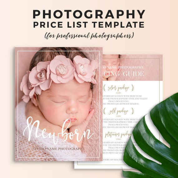 Newborn Photography Price List Template