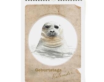 Birthday Calendar Animals, Wall Calendar, Animal Calendar, Perpetual