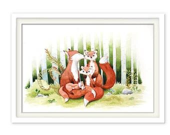 Print Foxfamily